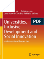 Claes Brundenius, Bo Göransson, José Manoel Carvalho de Mello eds. Universities, Inclusive Development and Social Innovation An International Perspective