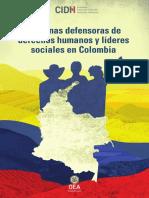 CIDH Defensores Colombia