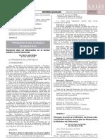 DECRETO SUPREMO Nº 197-2019-PCM