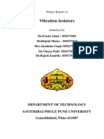 Viberation Isolation Report