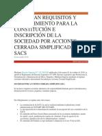 APRUEBAN REQUISITOS Y PROCEDIMIENTO PARA LA CONSTITUCIÓN E INSCRIPCIÓN DE SACS.docx