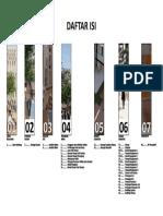 Contoh daftar isi arsitektur