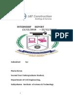 l&T internship report