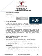 Silabo Buen Vivir Nbc-001 Derecho a Septiembre 2018 - Febrero 2019