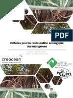 Bitoun R. 2019. Critères pour la restauration écologique des mangroves