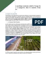 Synthèse du cadre réglementaire sur les côtes à mangrove du Mexique