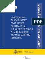 Investigación de Accidentes y Condiciones de Trabajo en Los Medios de Acceso a Embarcaciones Menores Marítimo Pesqueras