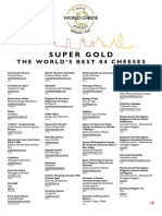 World Cheese Awards 2019 Super Golds
