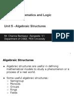 -DML (UE18CS205) - Unit 5(Algebraic Structures) .Pptx