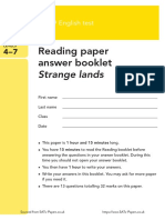 Year 9 Optional 2011 English Reading Answer Booklet