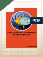 ANALISIS ASTROLOGICO VEDICO DE MERCEDES DIAZ