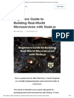 Beginners Guide to Building Real-World Microservices with Node.js