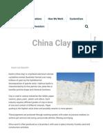China Clay (1)