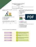 Evaluación de Ciencias Unidad 4 Las Fuerzas de Nuestro Entorno