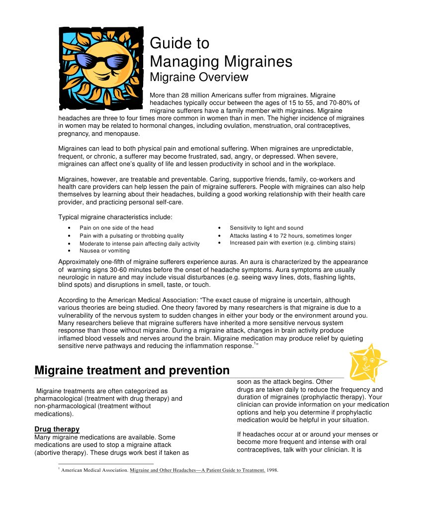 Migraine with aura: symptoms, treatment and prevention of seizures 20
