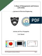 Antenna Wave Propagation Lab Manual CST