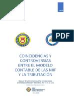 COINCIDENCIAS Y CONTROVERSIAS ENTRE EL MODELO CONTABLE DE LAS NIIF Y LA TRIBUTACIÓN