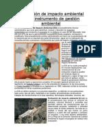 Evaluación de Impacto Ambiental Como Instrumento de Gestión Ambiental