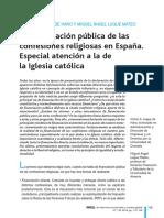 FINANCIACION PUBLICA DE LAS CONFESIONES RELIGIOSAS EN ESPAÑA - ESPECIAL ATENCION A LA DE IGLESIA CATOLICA