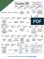 Calendario diciembre-2019