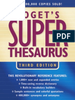 Roget's Super Thesaurus, 3rd Edition 2003