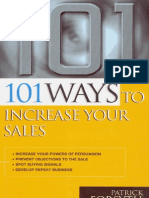 101 Ways to Increase Your Sales