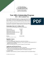 Tate Scholarship Application