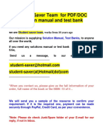 FUll List Test Bank and Solution Manual 2020-2021 ( Student Saver Team ) -Part 1
