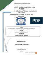 EL DESARROLLO CONSTITUCIONAL DEL PERU HASTA 1968