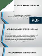 UTILIZABILIDAD DE RADIACION SOLAR