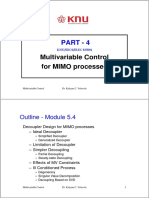 Multivariable Control for MIMO processes