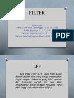 PPT DASAR TELEKOMUNIKASI (BPF ,HPF, dan LPF)