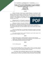 Arturo Valenzuela & Hospitalita Valenzuela vs The Honorable Court of Appeals, Et. Al. _G.R. No. 83122