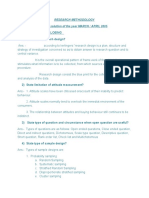Research methodology Ty BBA sem 5th April 2005