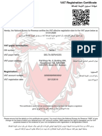 VAT Registration Certificate