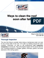 Ways to clean the roof soon after fall