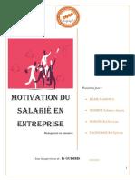 Motivation des salariés en entreprise 2019-2020