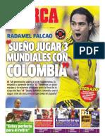 (2013-04-22) Falcao, sueño jugar tres mundiales con Colombia