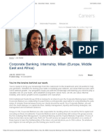 2019, EMEA, Corporate Banking, Internship, Milan, Italy - December intake - Careers