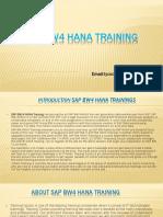 SAP BW4HANA Training | SAP BW/4HANA OnlineTraining