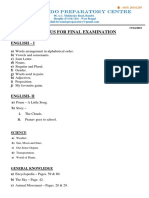 Syllabus for Final-K.G