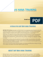 SAP BW4HANA Training | SAP BW/4HANA OnlineTraining