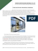 Advantages of Thermal Break Aluminium Windows