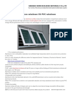 Aluminium Windows vs PVC Windows