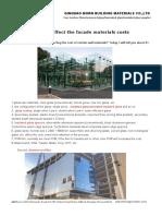 Factors Affect the Facade Materials Costs