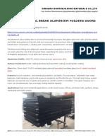 Mbqs75 Thermal Break Aluminium Folding Doors