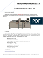 New Products-Laminated Glass Cutting Line