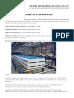 Polyurethand Sandwich Panel