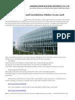 Stick Curtain Wall Installation-Hidden Frame Wall