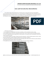 Unitised Curtain Wall Introduction &Installation